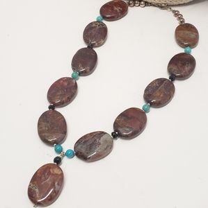 Handmade Stone Statement Necklace